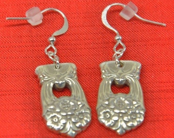 Eternally Yours  Silver Spoon Earrings