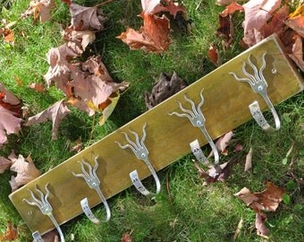 Mustard Stained 5 Funky Forks Coat Rack OH YEAH