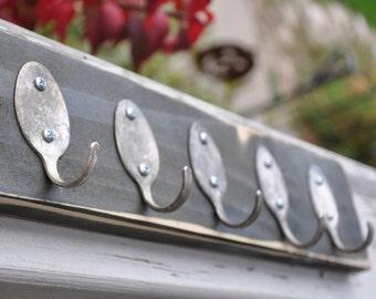 Rad Spoon  Key Rack Distressed Black