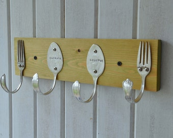 Acid Green Personalized Spoons and Forks Rack