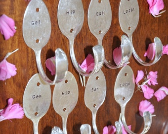 8 personalized Spoon Hooks