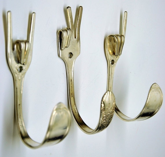 Rock On x Peace x Love Special Collector set 3 Silverware Coat Hooks