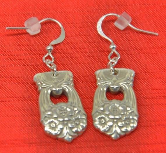 Eternally Yours  Silver Spoon Earrings
