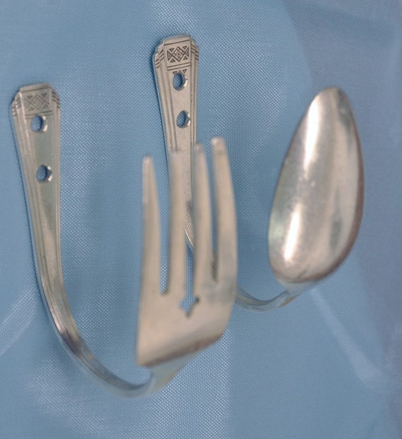 Spoon and Fork Hook :) Great for Kitchen Towels