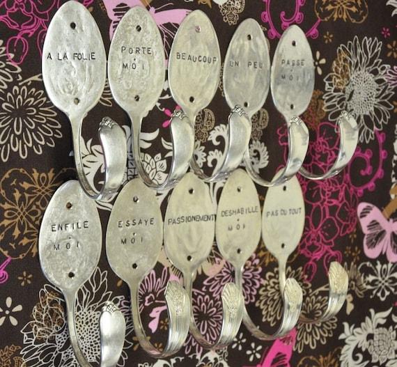 10 Spoon Hooks Personalized Tablespoon Hooks