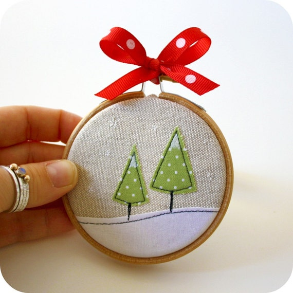 items similar to unique winter ornament a snowy slope on