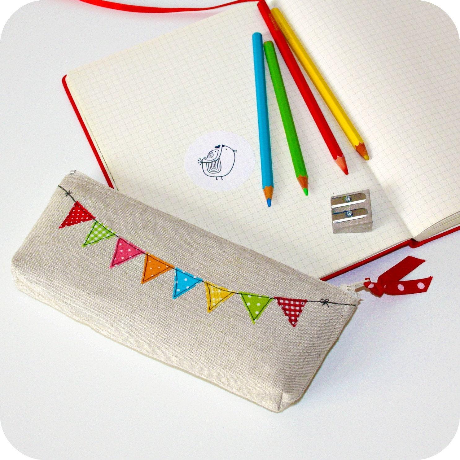unique linen pencil case clutch by pillipilli on Etsy