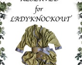 RESERVED for LADYKNOCKOUT -Urban Samurai Green with Envy Coat Cape Wrap - Military Khaki - Versatile Spring fashion - Abstract Wearable Art - Modern urban Guerrilla Goddess Wear -