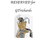 RESERVED for GTrichards -  2nd and final installment payment  on OOAK Golden Canvas Lily Vest