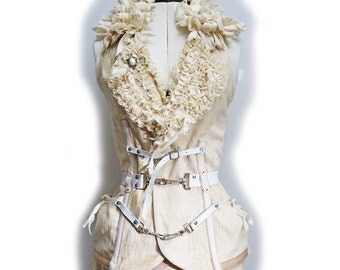 Dutchess Vest Handmade Couture Burlesque Fashion Bohemian Wearable Art Top