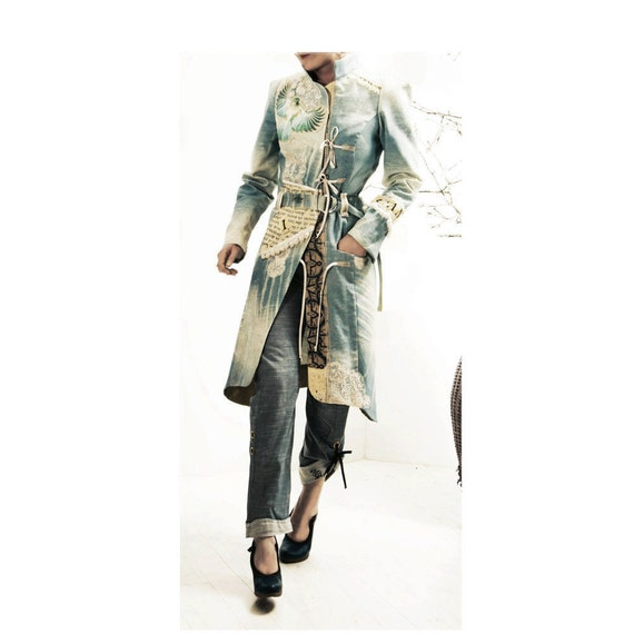 Blue Coat - SALE priced couture fashion