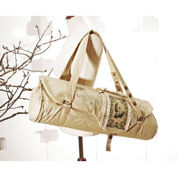 Sample SALE Yoga Mat Bag Golden LINTU Handmade matsak wing and the prayer Ahimsa SUN jooga kassi Pilates Luxury Glamour fitness gear