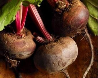 Organic Detroit Dark Red Beet Heirloom Vegetable Seeds