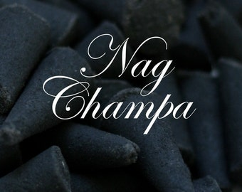 Nag Champa Charcoal Incense Cones 20 Pack - Super High Quality Scented Cones Handmade Aromatherapy Masculine Gift Cone Classic