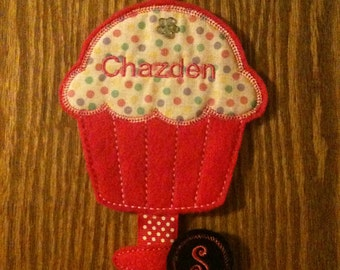 Personalized Cupcake Clippie Holder