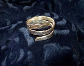 Sterling Silver Hammered Spiral Ring