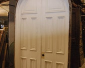 Antique Arched Top Double Door Set 1880's With Jamb and Casing