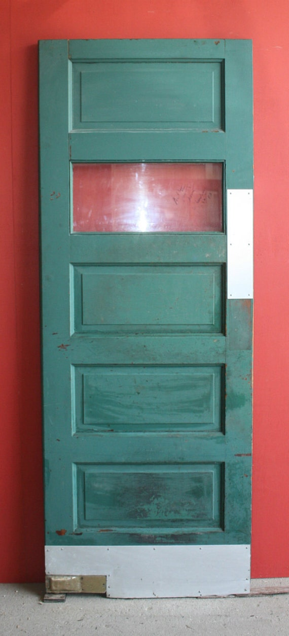 Rare Vintage Style Butler/Pantry Swinging Door With Hardware