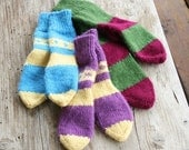 RESERVED - set of three children's socks, custom made.