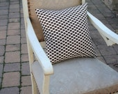 Contemporary Mod Chocolate Brown Dots PILLOW COVER - 16 Inch