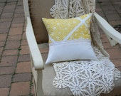 Let The Sun Shine In - Recycled PILLOW COVER made of Vintage Fabric - 14 Inch