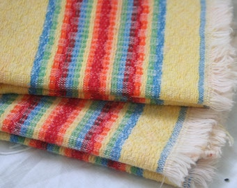 Vintage NAPKINS, Rainbow Striped - Set of 2