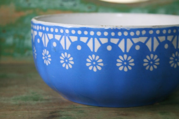 Vintage Ceramic Blue/White BOWL - Germany