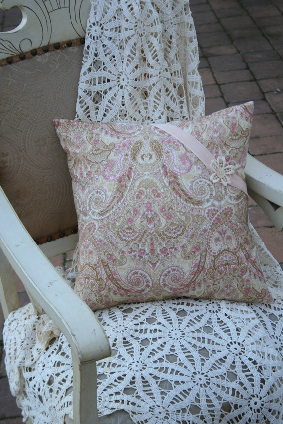 Pink Paisley PILLOW COVER - 16 Inch