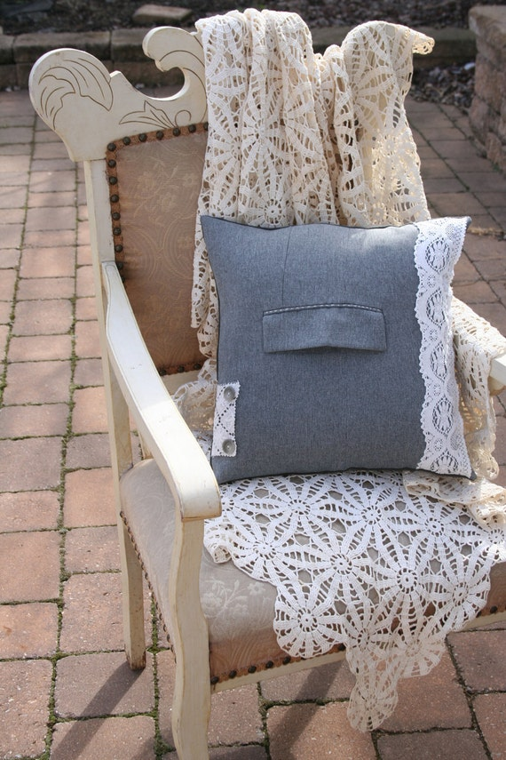 Lacy Lady 2 Recycled PILLOW COVER - 16 Inch