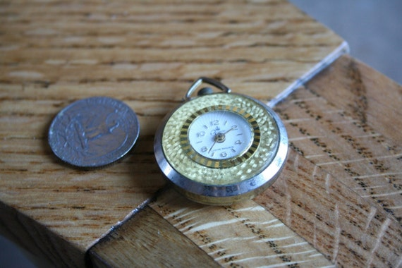 Vintage BUGANA Pocket Watch for Jewelry Making
