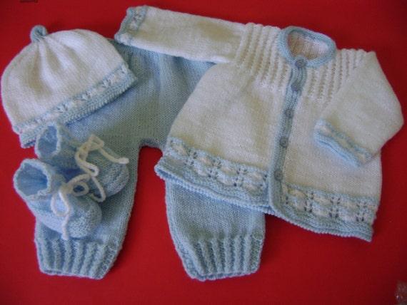 Set Knit Newborn to 3 Months No Allergenic Yarn
