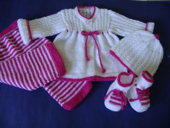 Knit Baby  Set  Newborn to 3 Months Antiallergic Yarn