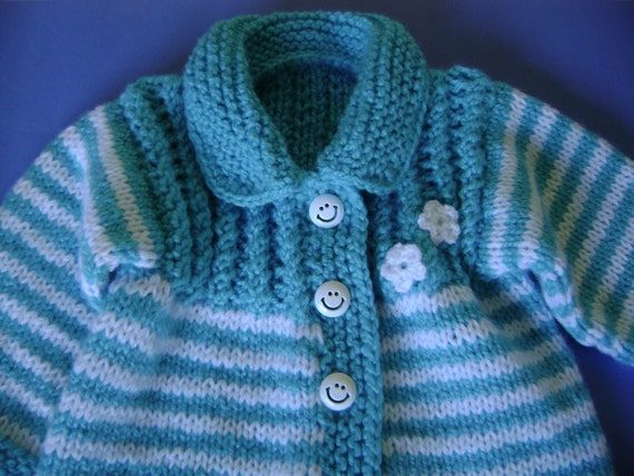 Hand  Knitted Baby  Sweater /1 to 5 Months