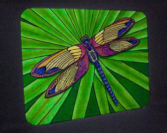 Dragonfly Cutting Board and Hot Plate