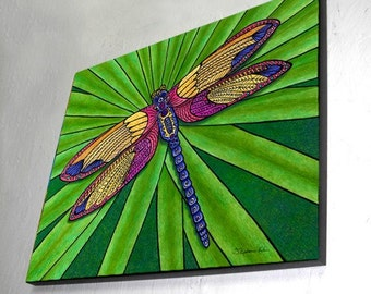 Dragonfly Wall Panel