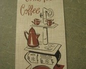 Vintage Invitations, Come for Coffee, Matching Envelopes, Set of Ten
