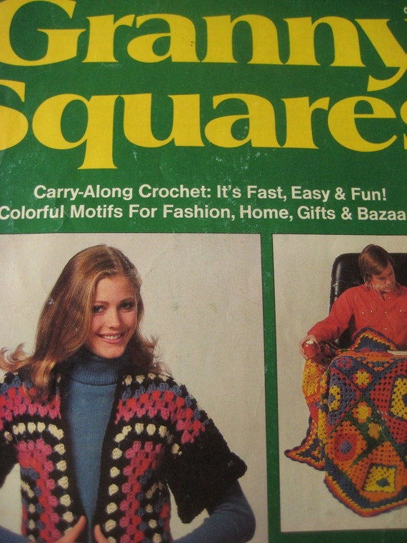 Vintage Granny Square Patterns, Woman's Day Magazine from 1980