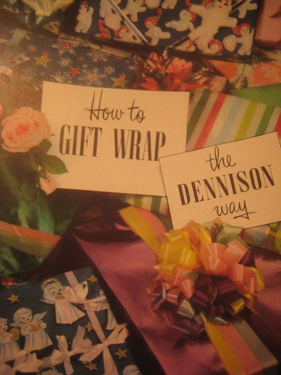 Vintage Dennison Instruction Booklet, 1950 Gift Wrapping Guide, How to Gift Wrap the Dennison Way