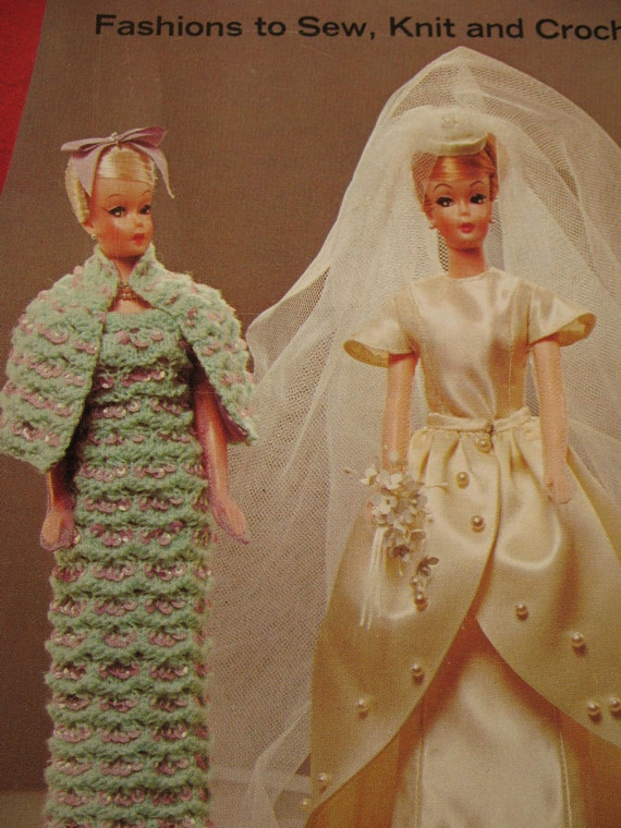 RESERVED Vintage Patterns, The Doll Book, Barbie Clothes, Coats and Clark's Pamphlet, Knit and Crochet Patterns