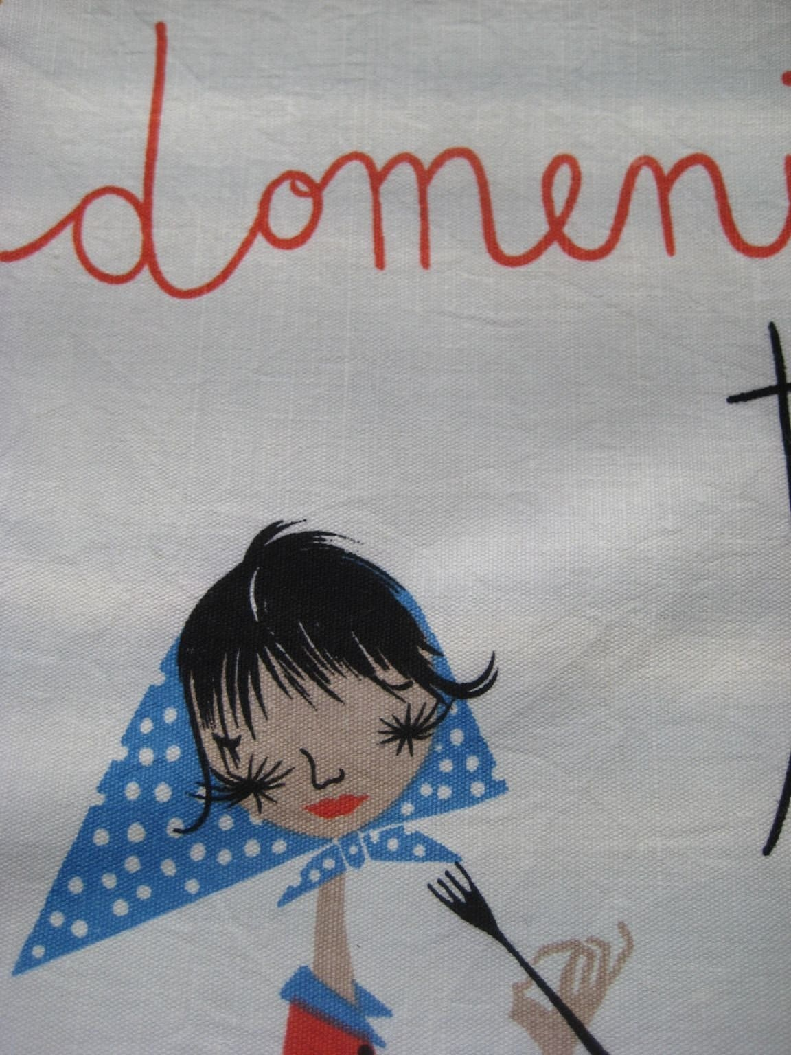 Vintage Day Of The Week Tea Towel With Italian Design By
