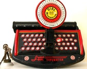Vintage Marx toy company Dial typewriter back to school gift
