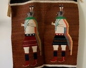 Reserved listing for jason          handwoven Navajo rug Rainbow Dancers lovely piece of work includes original tag