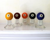 Set of Vintage Billiards balls instant collection of five as shown