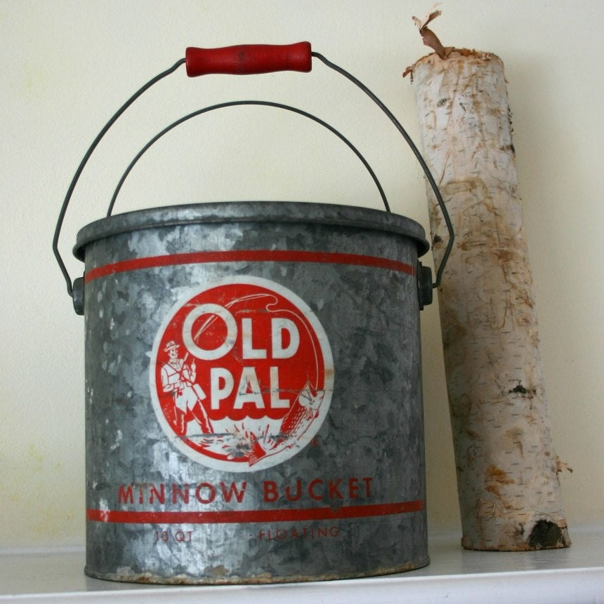Old buddy OLD PAL minnow bucket for your outdoor by opendoorstudio