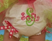Featured Princess Sofia..... Girls Baby Custom Personalized Monogrammed Diaper Cover Bloomers with bows