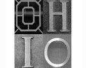 OHIO - 11 x 14 Black and White photograph - Go Buckeyes OSU