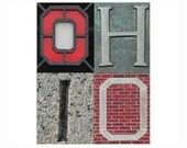 OHIO - 5 x 7 Scarlet and Gray photograph - Go Buckeyes OSU