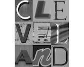 CLEVELAND - 4 x 6 Black and White photograph