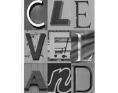 CLEVELAND - 5 x 7 Black and White photograph