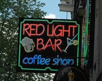Red Light Bar - Amsterdam, Netherlands - 4 x 6 photograph